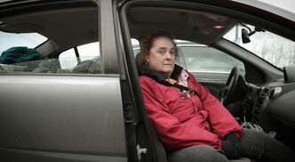 Dorothy Thomas, who lives on a fixed income of CPP and a small CN Rail pension from her late  husband, lives with her son in their car as they search for an affordable apartment.