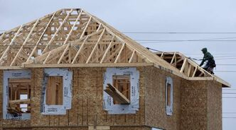 A new home under construction in the Bridgewater Lakes neighbourhood near Waverley Street.