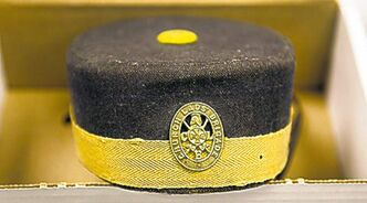 An old officer's hat was among the stolen antiques the RCMP recovered.