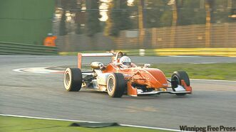 David Richert lapping in F3 race car in Italy.