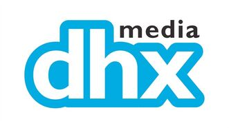 The corporate logo for DHX Media Ltd. (TSX: DHX) is shown. THE CANADIAN PRESS/HO