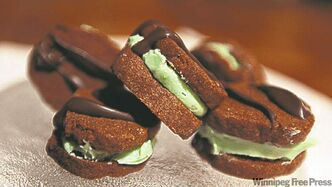 Edith Taylor sent in a recipe for Chocolate Mint Dreams, a decadent sandwich cookie.