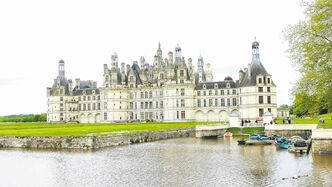Chateau de Chambord, rear view.