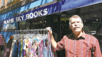 Grant Pastuck, owner of Prairie Sky Books, has been in business since 1978. What started as a dharma store is now a bookstore and boutique.
