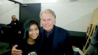Maria Aragon has an admirer in actor Martin Sheen.