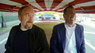 Louis C.K. and Jerry Seinfeld on a laugh-fuelled coffee run.