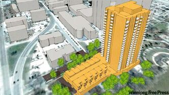 An artist's rendering of the $45-million Heritage Landing on Assiniboine, scheduled to be completed by 2014.