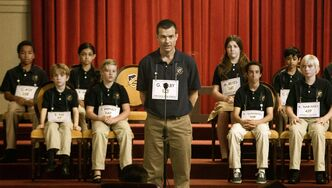 "This photo released by Focus Features shows Jason Bateman, center, in a scene from ""Bad Words."""