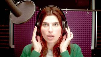 This publicity photo released by Roadside Attractions shows Lake Bell in a scene from the film �In a World...,� a comedy about a struggling voice coach.