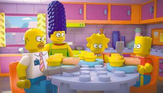 The Simpsons as Lego figures in Sunday's episode of the long-running animated show.
