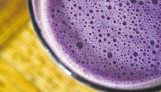 Healthy blueberry shake