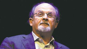 "Writer Salman Rushdie discusses his autobiography titled, ""Joseph Anton: A Memoir"" during a forum Monday, October 8, 2012, at George Washington University in Washington, D.C. (Olivier Douliery/Abaca Press/MCT)"