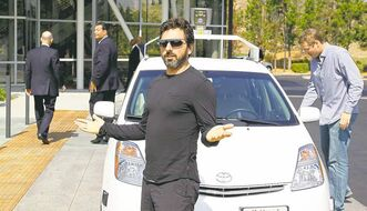 Google co-founder Sergey Brin rode in a driverless car to Google headquarters in Mountain View, Calif., in September 2012 for the signing of legislation opening the way for autonomous vehicles in the state.