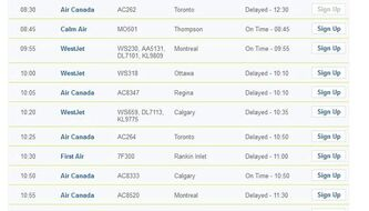A winter storm is causing delays in both departures and arrivals at Winnipeg James Armstrong Richardson International Airport.