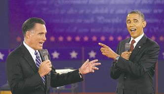 President Barack Obama and Republican presidential nominee Mitt Romney.
