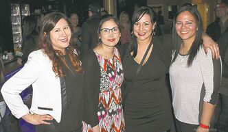 From left, Jarita Greyeyes, Joi T. Arcand, Leah Arcand and Melody Wood.