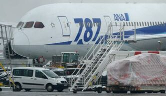A Boeing 787 'Dreamliner' of the Japanese airline All Nippon Airways (ANA) is parked at the airport in Frankfurt , Germany Thursday Jan. 17. Europe's air safety authority has followed the United States in ordering the grounding and safety review of Boeing's 787 Dreamliner following a series of incidents with the aircraft in recent days.