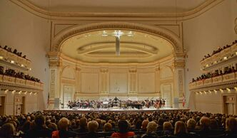 The Winnipeg Symphony Orchestra performs at Carnegie Hall in New York City Thursday night in front of an audience that included hundreds of Manitobans.