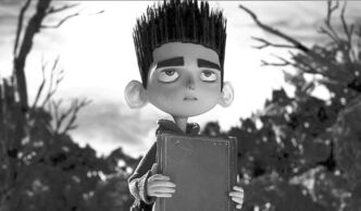 "FILE - This undated publicity file photo of a film image released by Focus Features shows the character Norman, voiced by Kodi Smit-McPhee, in the 3D stop-motion film, ""ParaNorman."" Burton's ghoulish sensibilities, ghosts, goblins and other creatures from beyond, somehow make a nice fit for the slightly clunky, chunky stop-motion style. (AP Photo/Focus Features, File)"