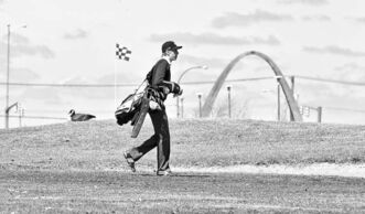 A golfer plays Headingley�s John Blumberg course on May 3.