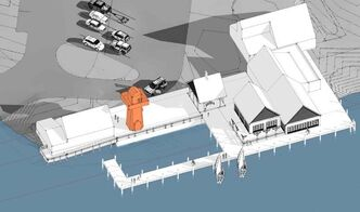 Illustration of new dock area at Harbour View.