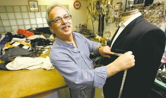 Giovanni Lagioia at his Osborne Street tailor shop: 'I want my customers to feel like a million bucks. You shouldn't feel like you have a suit on.'
