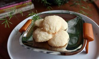The recipe  for lemon tea cookies  produces a tender and cakey treat  with a subtle lemon flavour.