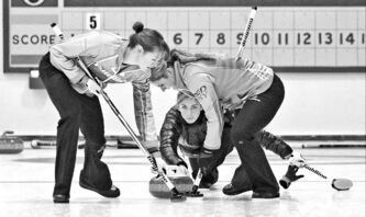 Scotland's Eve Muirhead throws a rock at the Fort Rouge Curling Club Sunday. Muirhead ranks fourth on the WCT money list, three spots ahead of the top Canadian.
