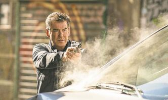 Pierce Brosnan is Bland, James Bland in 007 knockoff.