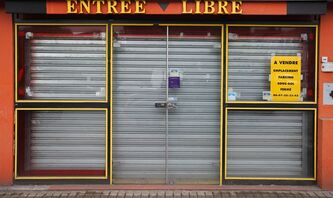 A shop is for sale in Roubaix, northern France, May, 16, 2013. THE CANADIAN PRESS/AP, Michel Spingler