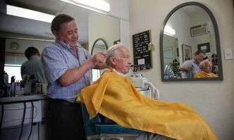 Rocco 'Rocky' Curatola, is one of a dwindling number of men keeping the Italian barbershop tradition alive and well in Winnipeg.