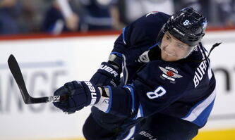 Winnipeg Jets' Alex Burmistrov, who played for Russia at the men's world hockey championship in May.