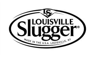 In this photo provided by Hillerich & Bradsby, the new logo on Louisville Slugger bats is shown. The familiar smell of hot dogs and freshly cut grass on Major League Baseball's Opening Day will be complemented by changes to the iconic Louisville Slugger bat, which is now made with firmer wood and stamped with a new logo. (AP Photo/Hillerich & Bradsby)