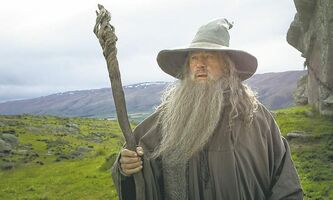 Ian McKellen as the Wizard Gandalf the Grey in The Hobbit: An Unexpected Journey.
