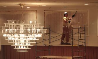 The grand ballroom undergoing renovation in the Delta Winnipeg hotel.