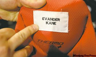 Evander Kane's game-worn hockey pants.