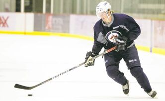 Jacob Trouba at development camp on Tuesday.