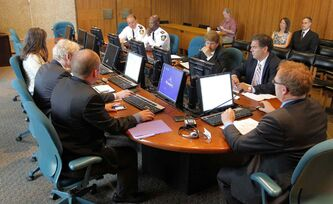 In this file photo, the Winnipeg Police Board meets for the first time at City Hall on June 21, 2013.