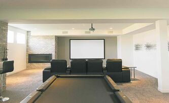 The open rec room has excellent light flow and offers a huge area to entertain.