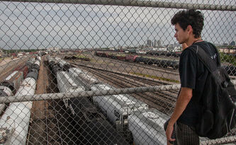 North End activist Michael Champagne says the Canadian Pacific rail yards are a physical and psychological barrier between the North End and the rest of Winnipeg.