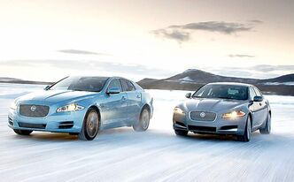 Jaguar is set to launch all-wheel-drive versions of the XJ (left) and XF sedans.