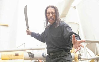 He slices, he dices. Danny Trejo returns as Machete to take out a megalomanic madman with his... well, you know.