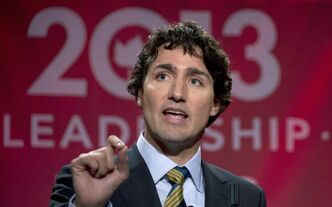 Federal Liberal Leadership candidate Justin Trudeau