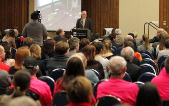 An open forum question and answer period with University of Manitoba President and Vice-Chancellor David T. Barnard and the executive team at University Centre on campus.