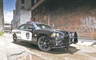 The Dodge Challenger police package is available with a potent Hemi engine.