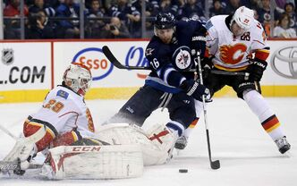 Winnipeg Jets right-winger Blake Wheeler (26) has been scoring of late but says the way he prepares and plays remains consistent whether he's in a slump or not.