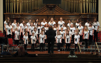 The Winnipeg Girls' Choir performs at Westminster United Church at the Winnipeg Music Festival on Sunday.