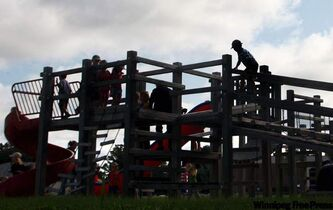 Some play structures no longer meet safety standards.