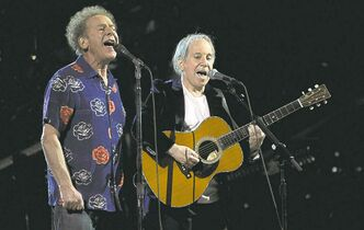 Paul Simon, right, and Art Garfunkel