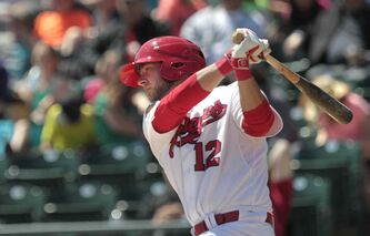 Winnipeg Goldeyes first baseman Casey Haerther was named to the all-star team after earning two player-of-the-week awards in just three weeks.